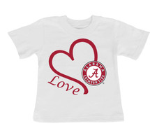 Alabama Crimson Tide Love Infant/Toddler T-Shirt
