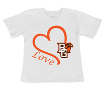 Bowling Green St. Falcons Love Infant/Toddler T-Shirt