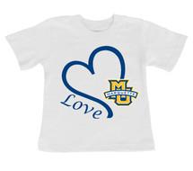 Marquette Golden Eagles Love Infant/Toddler T-Shirt