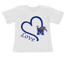 Memphis Tigers Love Infant/Toddler T-Shirt
