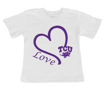 Texas Christian TCU Horned Frogs Love Infant/Toddler T-Shirt
