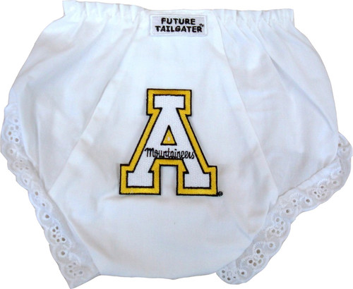 Appalachian State Mountaineers Eyelet Baby Diaper Cover