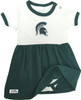 Michigan State Spartans Baby Onesie Dress and Lace Socks Set