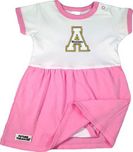 Appalachian State Mountaineers Baby Onesie Dress - Pink