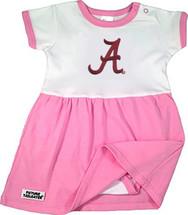 Alabama Crimson Tide Baby Onesie Dress - Pink