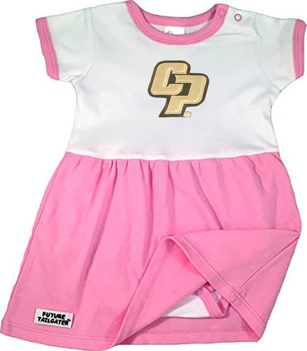 Cal Poly Mustangs Baby Baby Onesie Dress - Pink