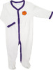 Clemson Tigers Baby Pleated Playsuit - Purple