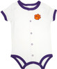 Clemson Tigers Baby Romper - Purple