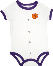 Clemson Tigers Baby Romper - Purple