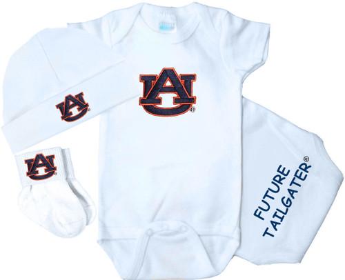 Auburn Tigers Homecoming 3 Piece Baby Gift Set