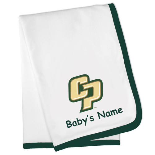 Cal Poly Mustangs Personalized Baby Blanket