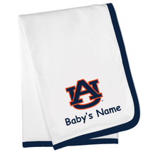 Auburn Tigers Personalized Baby Blanket