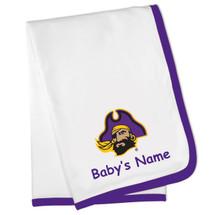 East Carolina Pirates Personalized Baby Blanket