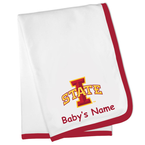 Iowa State Cyclones Personalized Baby Blanket