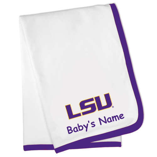 LSU Tigers Personalized Baby Blanket