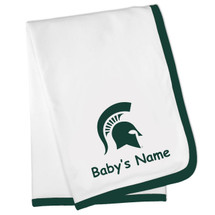 Michigan State Spartans Personalized Baby Blanket