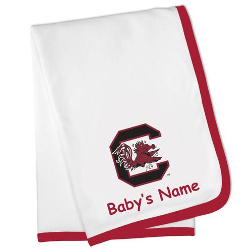 South Carolina Gamecocks Personalized Baby Blanket