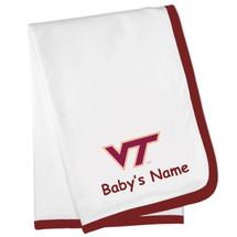 Virginia Tech Hokies Personalized Baby Blanket