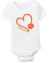 Clemson Tigers Personalized Baby Onesie