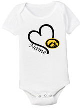 Iowa Hawkeyes Personalized Baby Onesie