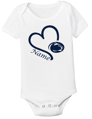 Penn State Nittany Lions Personalized Baby Onesie