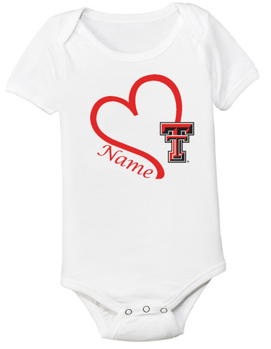 Texas Tech Red Raiders Personalized Baby Onesie