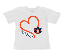 Auburn Tigers Personalized Heart Baby/Toddler T-Shirt