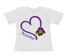 East Carolina Pirates Personalized Baby/Toddler T-Shirt