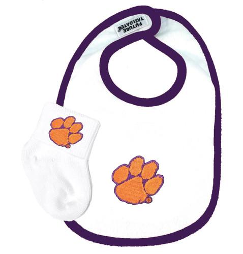 Clemson Tigers Baby Bib and Socks Set