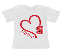 North Carolina State Wolfpack Personalized Baby/Toddler T-Shirt