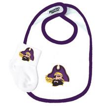 East Carolina Pirates Baby Bib and Socks Set