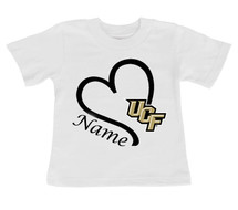 UCF Knights Personalized Heart Baby/Toddler T-Shirt