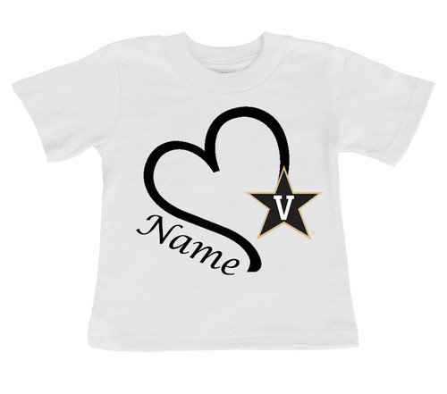 Vanderbilt Commodores Personalized Baby/Toddler T-Shirt