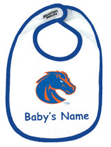 Boise State Broncos Personalized 2 Ply Baby Bib