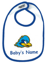 Delaware Blue Hens Personalized 2 Ply Baby Bib