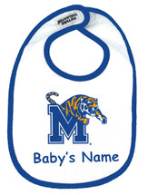 Memphis Tigers Personalized 2 Ply Baby Bib