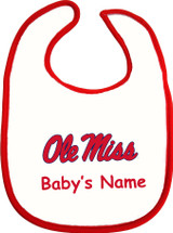 Mississippi Ole Miss Rebels Personalized 2 Ply Baby Bib