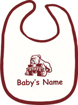 Mississippi State Bulldogs Personalized 2 Ply Baby Bib