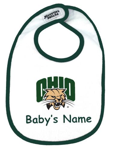 Ohio Bobcats Personalized 2 Ply Baby Bib