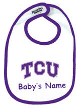 Texas Christian TCU Horned Frogs Personalized 2 Ply Baby Bib