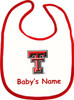 Texas Tech Red Raiders Personalized 2 Ply Baby Bib