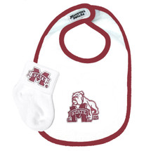 Mississippi State Bulldogs Bib and Socks Baby Set