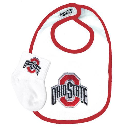 Ohio State Buckeyes Bib and Socks Baby Set