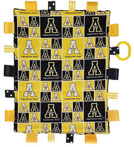 Appalachian State Mountaineers Baby Sensory Tag Lovey Minky Blanket