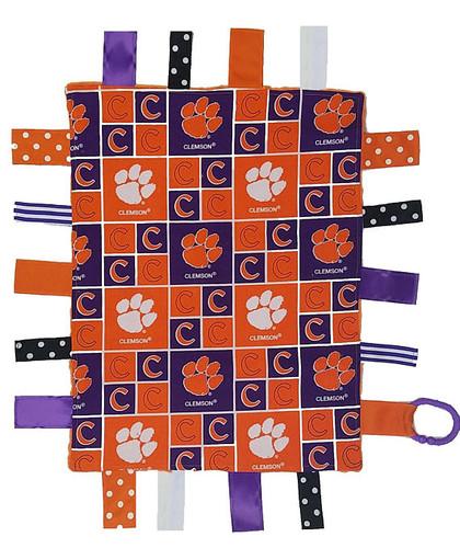 Clemson Tigers Baby Sensory Tag Lovey Minky Blanket