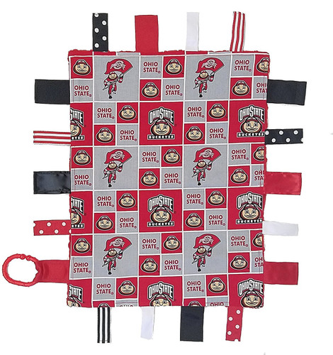Ohio State Buckeyes Baby Sensory Tag Lovey Minky Blanket