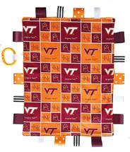 Virginia Tech Hokies Baby Sensory Tag Lovey Minky Blanket