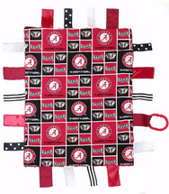 Alabama Crimson Tide Baby Sensory Tag Lovey Minky Blanket