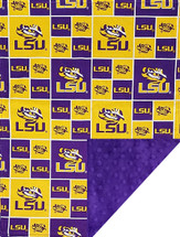LSU Tigers Baby/Toddler Minky Blanket