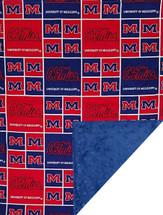 Mississippi Ole Miss Rebels Baby/Toddler Minky Blanket